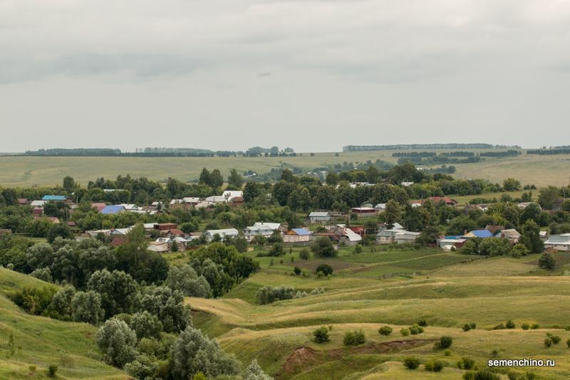 Виды деревни Семенчино