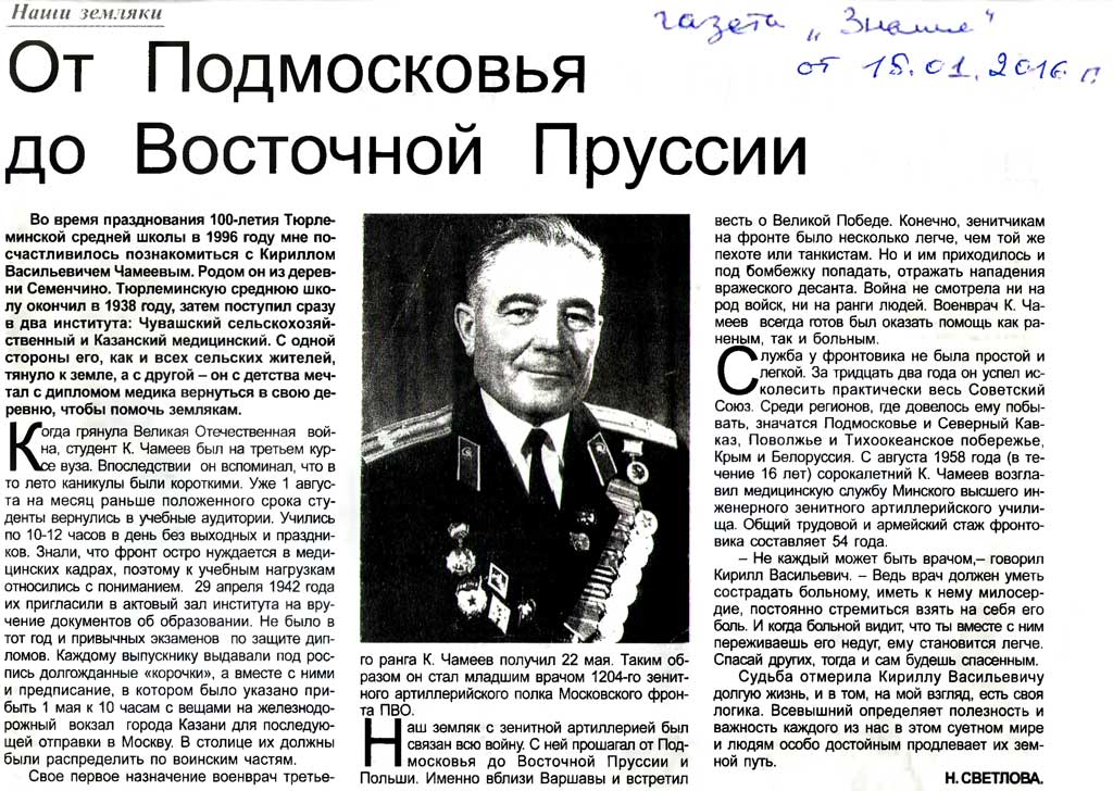 Чамеев Кирилл Васильевич