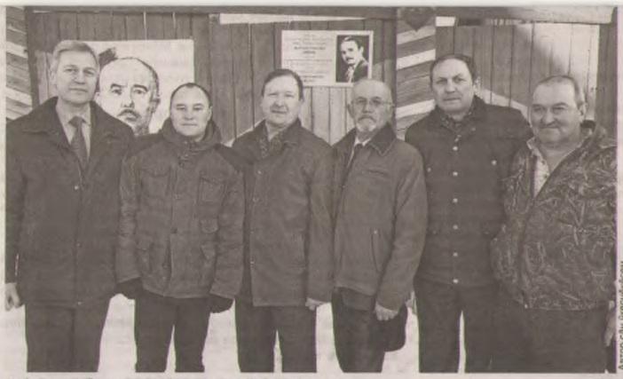 На фото слева направо: Магарин Александр Николаевич, Смолин Евгений Анатольевич, Гаврилов Федор Иванович, Милютин Владимир Аркадьевич, Миронов Андрей Георгиевич, Давыдов Иван Иванович