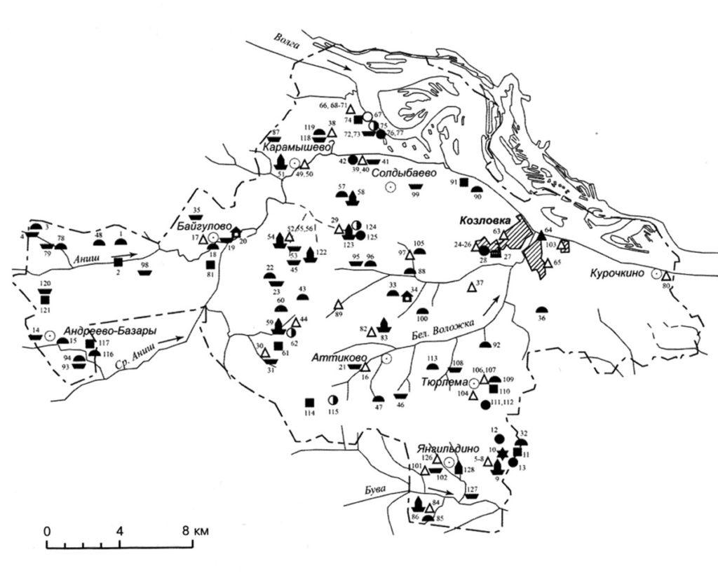 Археологическая карта Козловского района