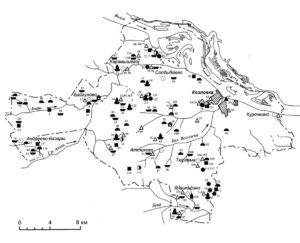 Археологическая карта Козловского района. Археологические находки и памятники — Семенчино.