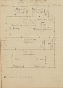 План Семенчинской школы I ступени, 1922 года
