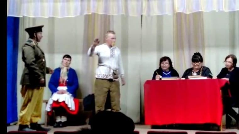 Постановка спектакля в Семенчинском СК Федора Павлова «Судра»